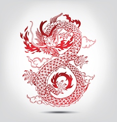 Traditional Chinese oriental Dragon vector