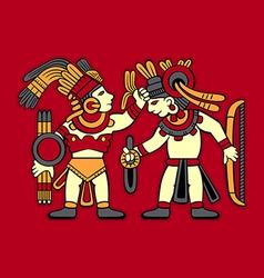 Aztec warriors vector image