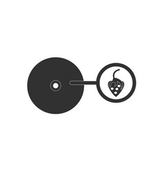 black icon on white background music plate and vector image