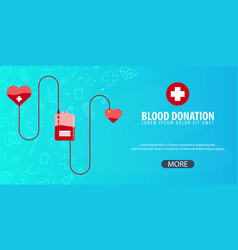blood donation medical background health care vector image vector image