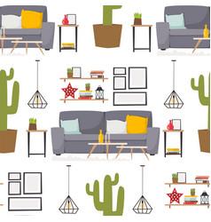 furniture room interior design apartment home vector image vector image