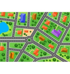 Map of suburb or little town vector image