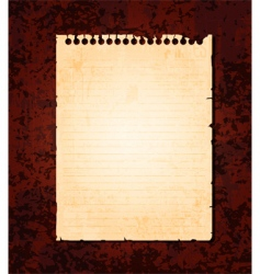 notebook page vector image vector image
