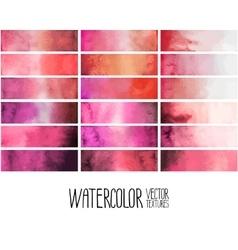 Red watercolor gradient rectangles vector image vector image