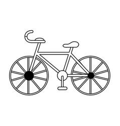sport vintage bike vector image