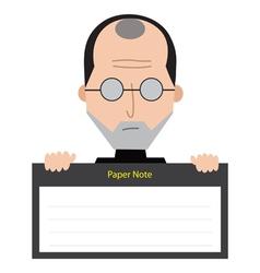 Steve Jobs Paper Note vector image