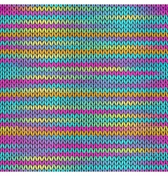 Style Seamless Knitted Melange Pattern vector image vector image