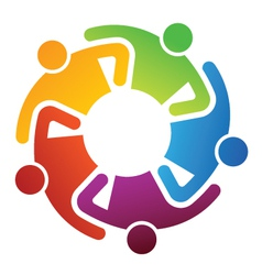 Teamwork share logo vector image vector image