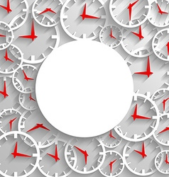 Abstract time mockup poster background 3D analog vector image