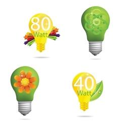 creative eco green vector image vector image