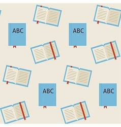Flat Seamless Pattern School and Library Reading vector image vector image