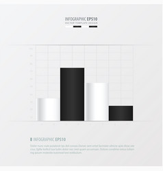 graph and infographic design black and white vector image vector image