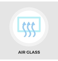 Rear window defrost flat icon vector image