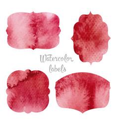 set watercolor forms vector image vector image