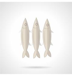Three sardines flat icon vector image