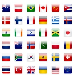 World Flags Icon Set vector image