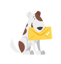 cartoon style of postal dog vector image