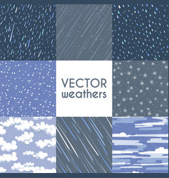 different types of rainfall autumn rainy snow vector image vector image