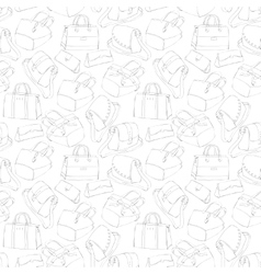 Seamless womans stylish bags sketch vector image vector image