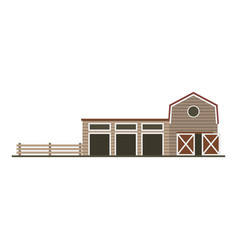 farm garage isolated image flat building vector image vector image