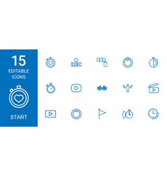 15 start icons vector