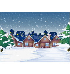 A winter night background vector