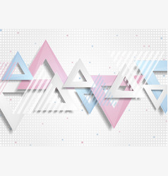 abstract concept triangles tech geometry retro vector image