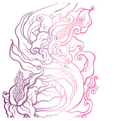 Abstract flower hand drawn vector