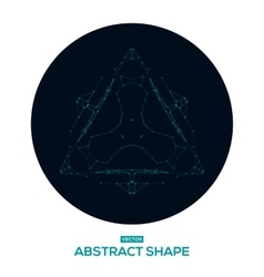 Abstract geometric shape low poly HUD vector image