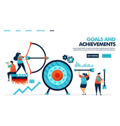 Achieve goals and achievements result in business vector