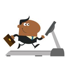 african american businessman cartoon character vector image