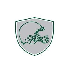 American Football Helmet Line Drawing Retro vector image