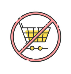 Anti consumerism rgb color icon vector