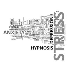 Anxiety and responsibility text word cloud concept vector