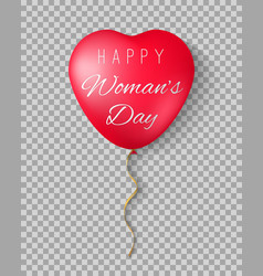 Balloons with the words happy womens day vector