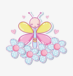 Beautiful buttefly cartoon vector