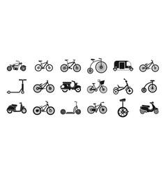 bike icon set simple style vector image