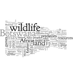 Botswana safari the haven of wildlife sanctuaries vector