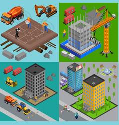 building development design concept vector image