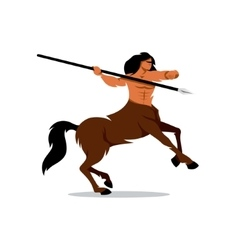 Centaur warrior cartoon vector