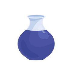 Ceramic painted vase glossy enameled porcelain vector