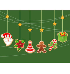 Christmas holiday dresses collection of icons 1 vector image