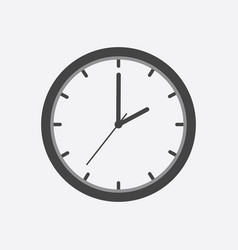 clock icon flat design on white background vector image