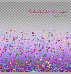 colorful confetti particles vector image