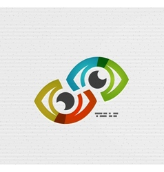 Colorful eye paper design vector image vector image