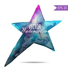 Colorful watercolor star icon vector image