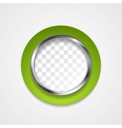 Corporate metal circle for web design vector image
