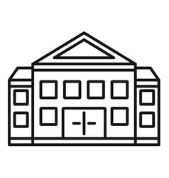 courthouse building icon outline style vector image