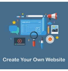 Create your own website vector