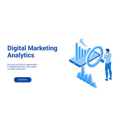 dm analytics 3d template 2 vector image